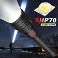 Супер мощный XHP70 X-Lamp фонарик Тактический Tlashlight USB Перезаряжаемый фонарь Водонепроницаемый охотничий светодиодный фонарь 18650