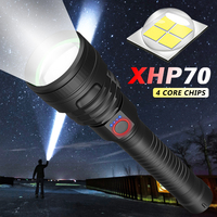 180000LM Super Powerful XHP70 X Lamp Flashlight Tactical Tlashlight USB Rechargeable Torch Waterproof Hunting LED Torch 18650