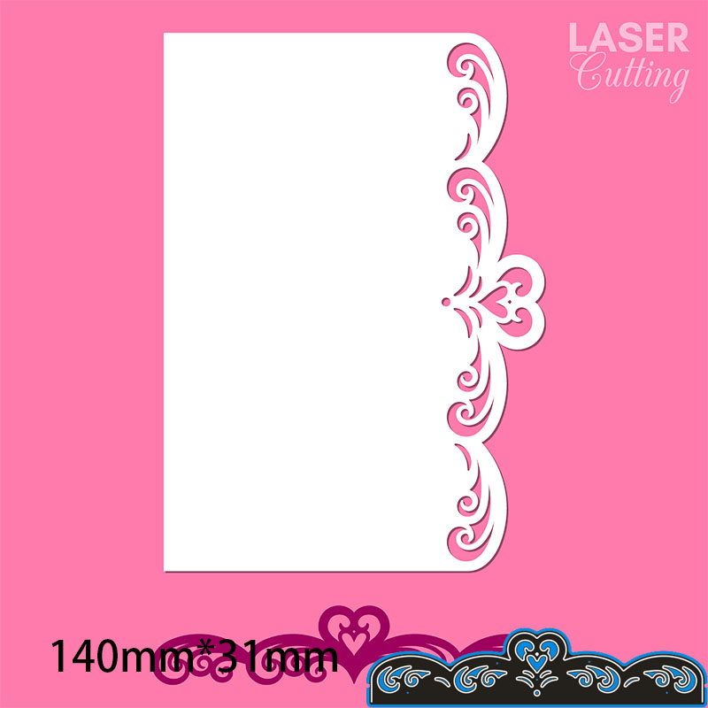 140*31mm Heart Lace Metal Cutting Dies For Card DIY Scrapbooking Stencil Paper Craft Album Template Dies