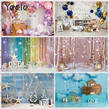 Yeele Unicorn Balloons Baby 1st Birthday Party Scene Photography Backdrops Customized Photographic Backgrounds For Photos Studio