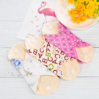 1pc Reusable Menstrual Pads Washable Women Sanitary Pads Napkin Waterproof Soft Bamboo Cotton Panty Liner Cloth Pad 18.5cm