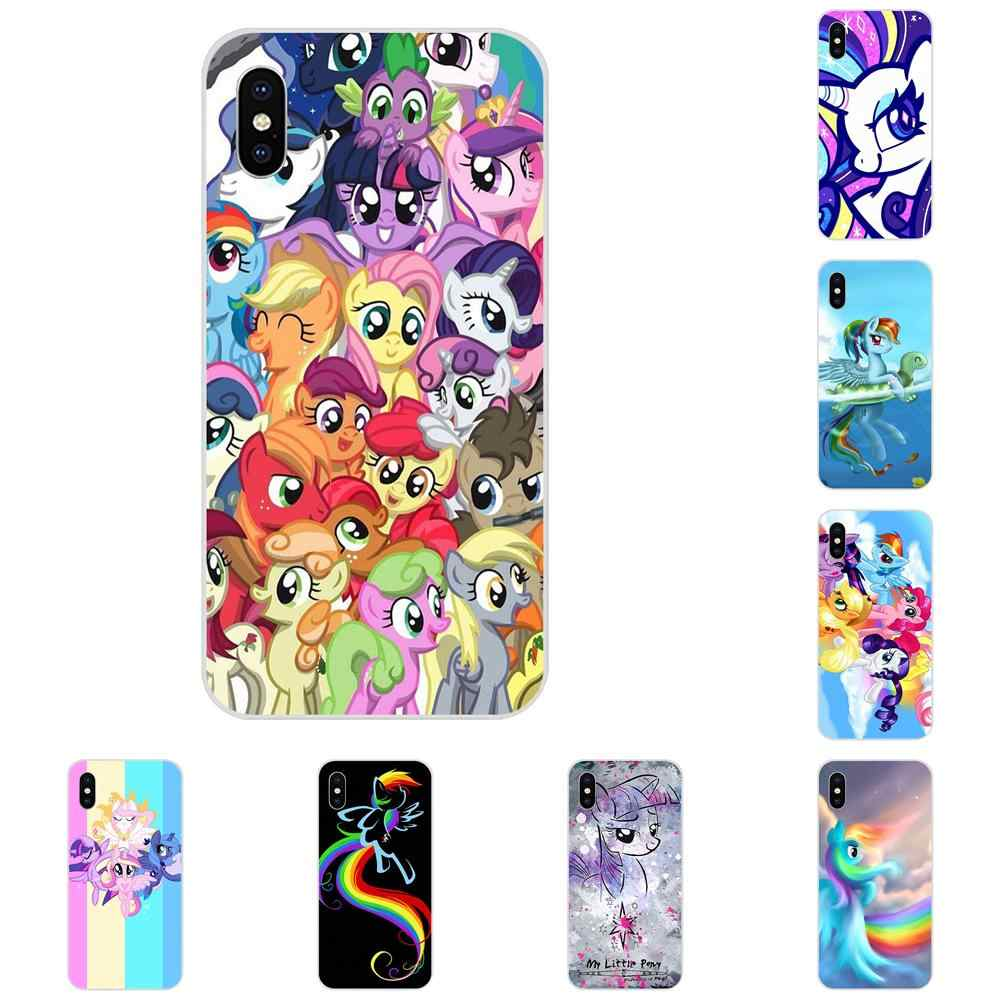 2019 My Little Pony Flower Rainbow для Apple iPhone 4 4s 5 5C 5S SE 6 6S 7 8 Plus X XS Max XR мягкий чехол для телефона