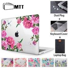 MTT kwiatowy futerał na laptopa do Macbook Air Pro 11 12 13 15 16 pasek dotykowy Crystal 2020 twarda obudowa do Macbook air 13 a2179 a1932 a1466