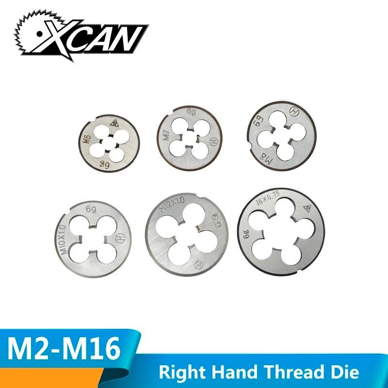 XCAN M2-M16 Right Hand Thread Die Metric Machine Screw Die