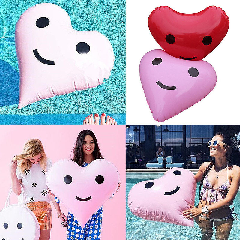 Rooxin Pool Toys Inflatable Swimming Ring Beach Ball Love Balloon Photo Props  Pool Float Accessories Party Wedding Decorations
