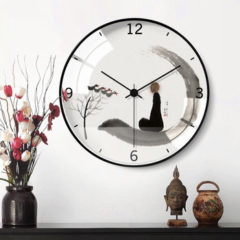 Chinese Luxury Living Room Wall Clock Bedroom Silent Creative Clock Wall Kitchen Art Reloj Pared Living Room Decoration AB50ZB
