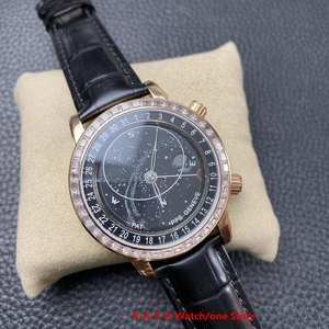 Watch Chronograph Mechanical-Genven Automatic Starry-Sky Women's 6104 1:1 Cal.240-Movement