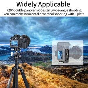 Image 3 - Niski środek ciężkości głowica statywu 40mm podwójna panoramiczna głowica kulowa z wycięciem U dodaj L płyta szybkiego uwalniania do Monopod lustrzanka cyfrowa