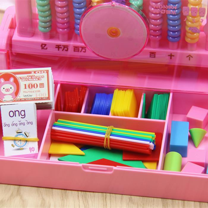 Counter PCs Young STUDENT'S Teaching Aids 9 Line Children Early Childhood Mathematics Grade 1/2/3 Stationary Box Cylinder Stick