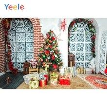 Yeele Christmas Backdrop Winter Tree Gift Arched Window Photography Background Photo Studio Photobooth Shoot Photophone Props