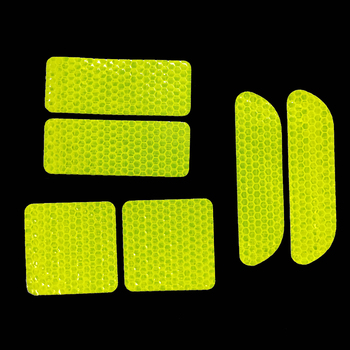 Car Door Sticker Decal Warning Tape Reflective Sticker Reflective Strip Motorcycle Bike Stickers Bicycle Reflective Fluorescent image
