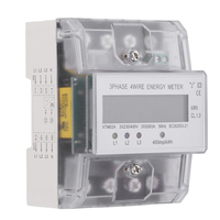 XTM024 5 80A Digital 3 phase 4 wire Undercurrent Meter LCD DIN Rail Meter Measurement Analysis Instruments Energy Meters