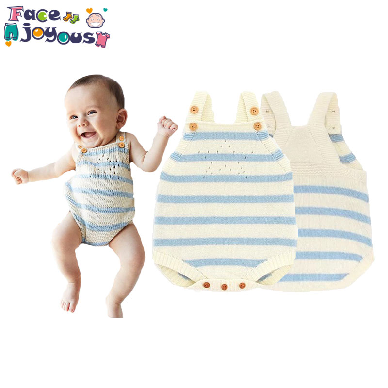 Baby Girl Knitted Romper Cartoon Newborn Infant Boys 100% Cotton Jumpsuits Baby Clothes Summer Boys Overall Rompers