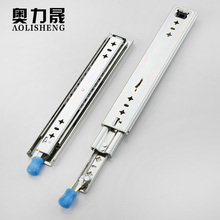 AOLISHENG Drawer Runners With Lock Ball Bearing Three Fold Full Extension Heavy Duty Slide Rail