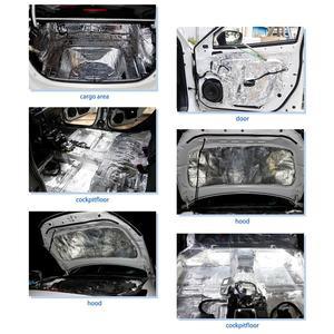 Image 5 - UXCELL 10mm Thick Aluminum Fiber Muffler Cotton Car Auto Fender Heat Sound Deadener Insulation Mat