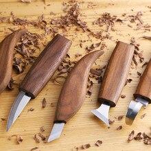 Cuchillo grabado en madera mano DIY herramientas de tallado de madera cuchillas carpintería herramientas de mano trabajador