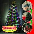 Árvore de natal luzes da corda led colorido mutável cintilante noite lâmpada dazzler ano novo jardim decoração dropshipping