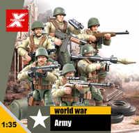 Figuras de acción de la guerra mundial a escala 1:35, juguetes de bloques de construcción, arma de la Segunda Guerra Mundial