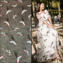 Multi-color embroidery full belly bird embroidered line fabric female dress skirt accessories 7 color factory direct stock