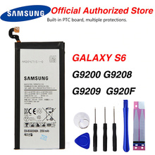 Original Samsung EB-BG920ABE Battery For Samsung GALAXY S6 G9200 G9208 G9209 SM-G920F G920I G920 G920A G920V G920T 2550mAh original eb bg920abe battery for samsung galaxy s6 g9200 g9208 g9209 g920f g920i eb bg920aba replacement phone battery 2550mah