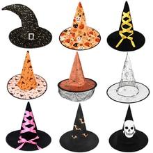 Costume-Accessories Decor Wizard-Hat Festival-Supplies Cosplay Halloween Kids Adult Favor
