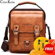 Celinv Koilm sacs à main pour hommes, sac à bandoulière grande capacité en cuir, sacoche voyage Cool, nouvelle collection