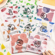 12packs/lot Cute Fruit Lime Soda Butter Paper Memo Pad Transparent Notes Notepad School Supply Escolar Papelaria Stationery