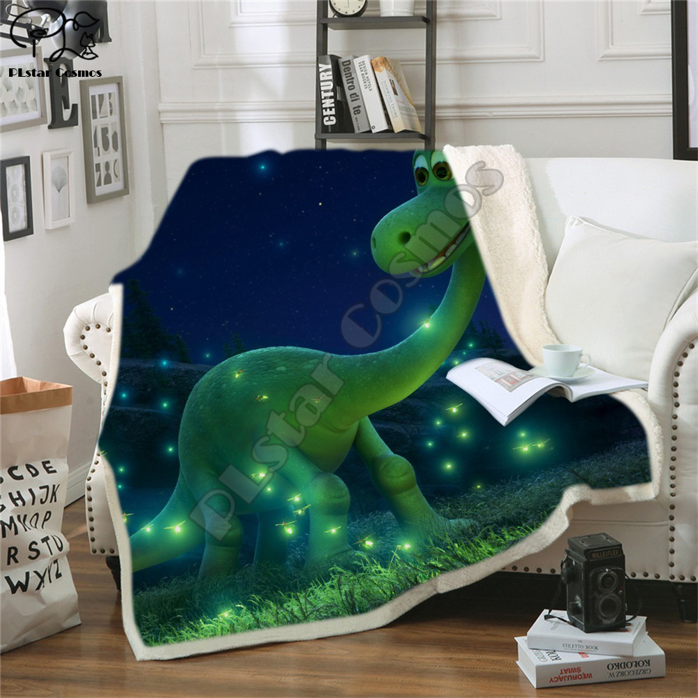 Kids Children Bedding Outlet Dinosaur Fluffy Soft Cotton Blanket Jurassic Cartoon Boys Girl Throw Blankets For Beds Home Textile