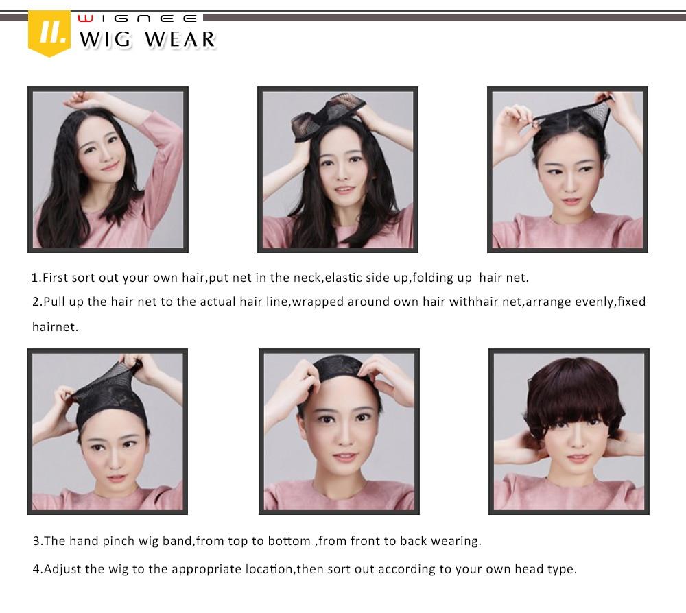 Peruca de cabelo sintético para mulheres, peruca