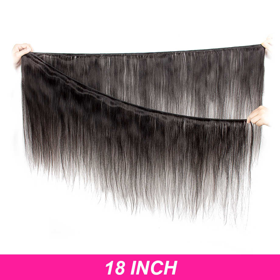 30 дюймов 40 дюймов пучки с закрытием прямые девственные Remy бразильские волосы переплетения пучки человеческих волос Расширение 3 пучка 4 пучка