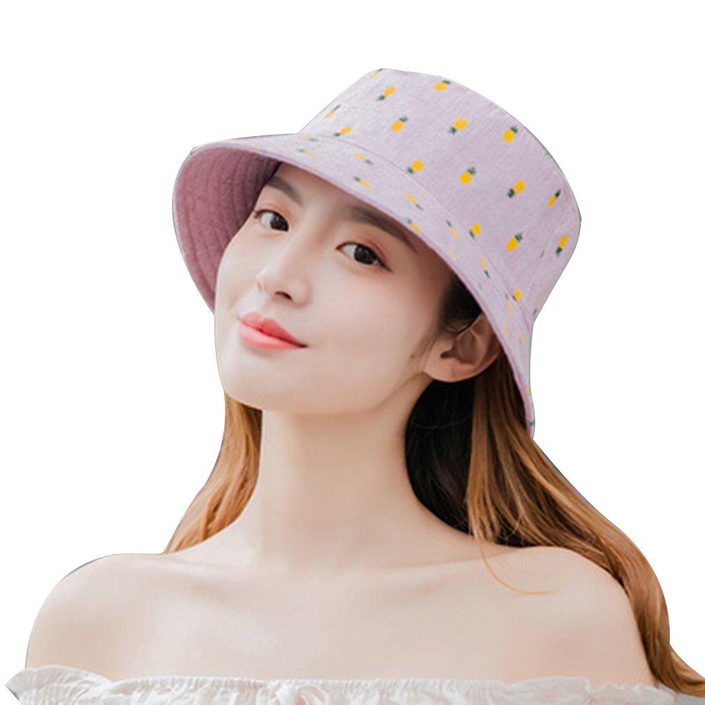 Baumwolle Ananas druck Eimer Hut Fischer Hut im freien reise hut Faltbare Sonne Kappe Hüte für Männer und Frauen
