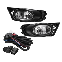 Front Bumper Grille Driving Fog Lights 55W H11 with Harness Replacements for Honda Civic 4 Door Sedan 2009 2010 2011