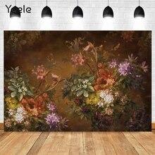Yeele çiçek açan çiçekler zemin parti kahverengi Photozone renkli çiçekler arka plan klasik arkaik fotoğraf stüdyosu Photophone sahne