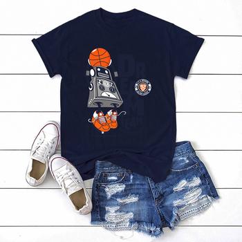 Dream Team robota Harajuku t-shirt z nadrukiem kobiet z krótkim rękawem moda marka koszula dla kobiet okrągłe wycięcie pod szyją przyjazny dla skóry ubrania dla kobiet tanie i dobre opinie CN (pochodzenie) Lato COTTON REGULAR Suknem Cartoon t-shirts NONE Na co dzień Wieku 16-28 lat O-neck