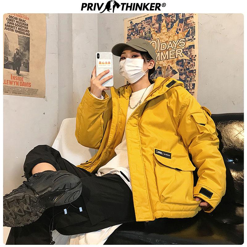 Privathinker Men Loose 2019 Thicken Winter Parka Jackets Male Warm Loose Hooded Jacket Mans Outwear Safari Style Fashion Coats