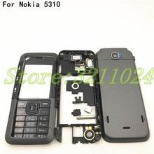 좋은 품질 새로운 전체 휴대 전화 하우징 커버 케이스 + 영어 키패드 노키아 5310 로고