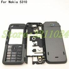 Dobrej jakości nowa pełna kompletna obudowa telefonu komórkowego + angielska klawiatura dla Nokia 5310 z Logo