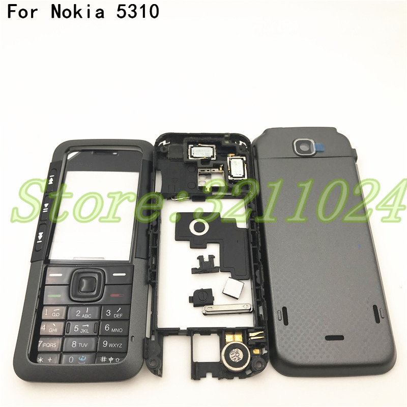 Good quality New Full Complete Mobile Phone Housing Cover <font><b>Case</b></font>+English Keypad For <font><b>Nokia</b></font> <font><b>5310</b></font> With Logo image