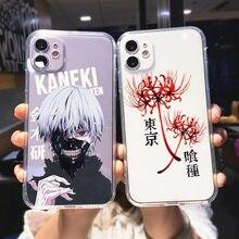Funda Suave y transparente de TPU para teléfono móvil, carcasa de Anime japonés para IPhone XR, X, XS, 12, 11 Pro Max, 7, 8, 6, 6S Plus, se2japan, Ghoul, Japón