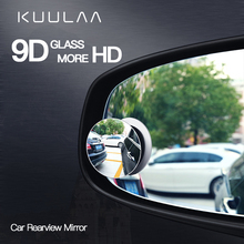 KUULAA Car 360 Degree HD Blind Spot Convex Mirror Auto Rearview Mirror Wide Angle Vehicle Parking Rimless Rear View Mirrors vodool 2pcs frameless car blind spot mirror 360 degree adjustable wide angle convex rear view mirror car parking rearview mirror