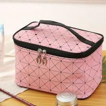 Fashion Portable Cosmetic Bag Zipper Makeup Case Women Travel Make Up Organizer Storage Pouch Toiletry Wash Storage Bags цены онлайн