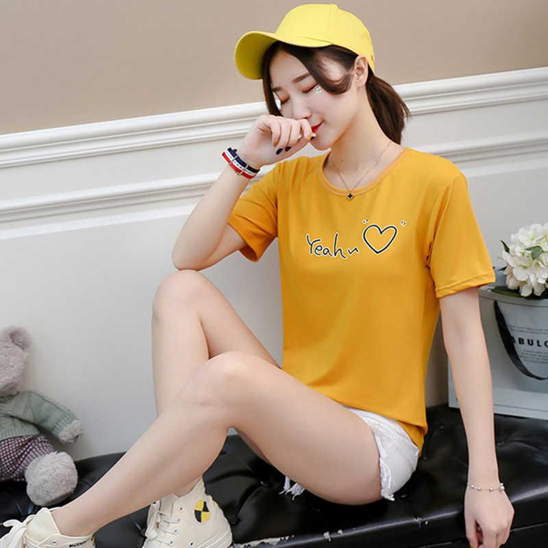 Nieuwe Vrouwen T-shirt Casual Harajuku Liefde Gedrukt Brief Tops Tee Zomer Vrouwelijke T-shirt Korte Mouw T-shirt Vrouwen Kleding