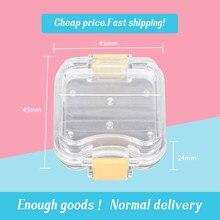 5 pièces laboratoire dentaire petite boîte de maintien de la couronne transparente avec membrane transparente pour emballage de maintien de la couronne pour dentiste de laboratoire dentaire