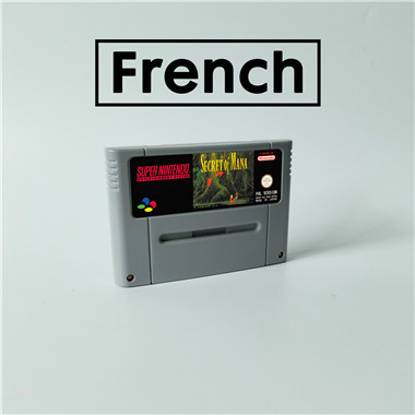 Segredo de mana língua francesa cartão de jogo rpg versão eur bateria salvar