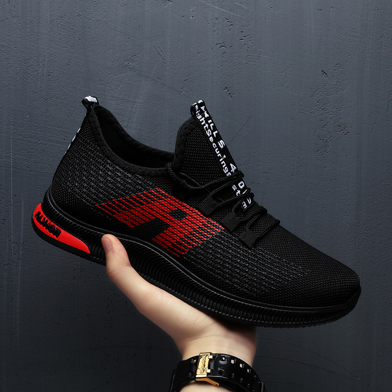 Breathable Men Sneakers Male Shoes Adult  Black High Quality Comfortable Soft Mesh Men Shoes Summer Outdoor Walking Footwear