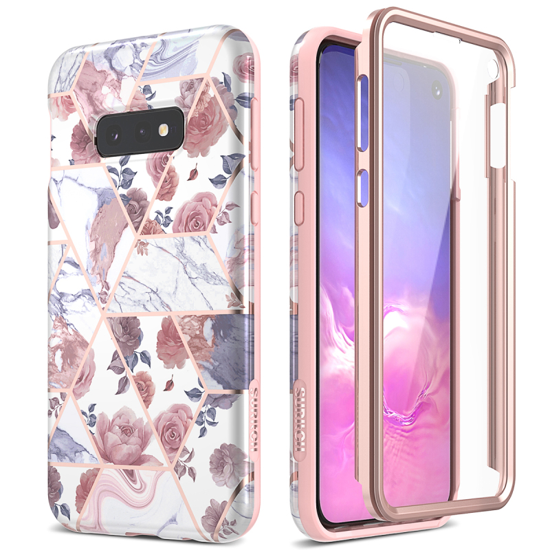2 In 1 Soft Case For Samsung Galaxy S10 S9 Plus Full Case Screen Protector Shockproof Case For Samsung S10e A50 Note 9 10 Plus