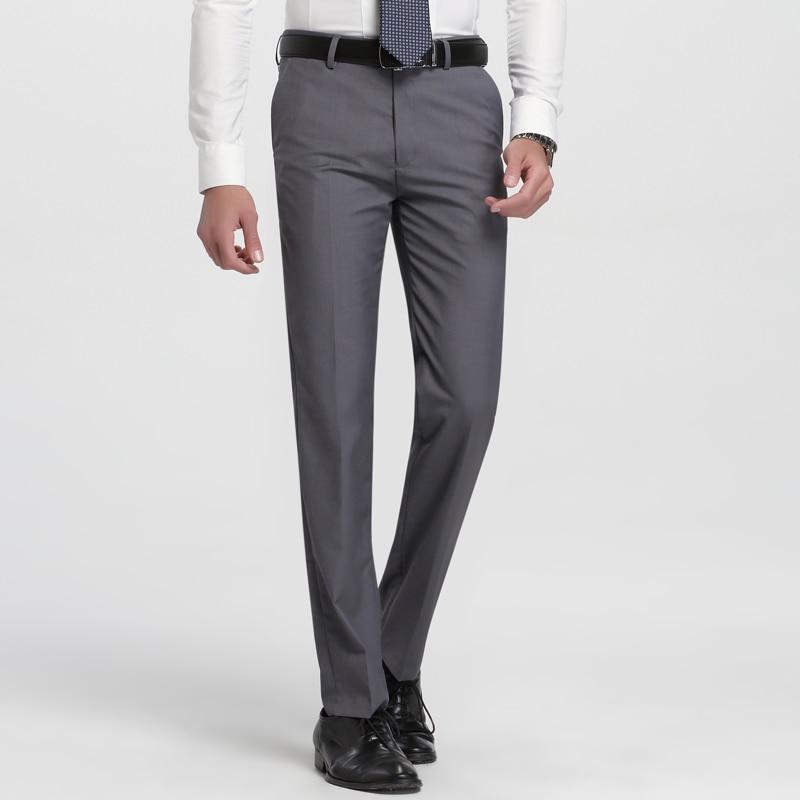 Traje Plano Y Pantalones Masculinos Rectos Para Hombre Dress Pants Slim Fit Formal Pantsslim Suit Pants Aliexpress
