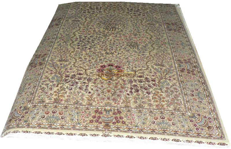 Silk Persian Rug Oriental Rugs Handwoven Carpets For Living Room Pattern  St-08065260l