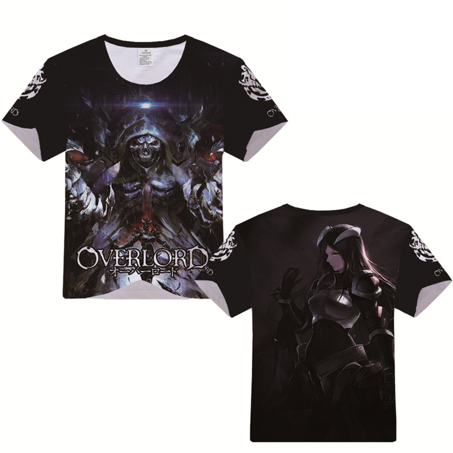 Men's Casual Print T-Shirt Overlord Ainz Ooal Gown Modal O-Neck Short Sleeve Teenager Sports Fashion Tshirt Tees Streetwear Gift