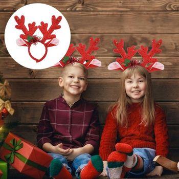 Boże narodzenie Santa opaski poroża reniferów boże narodzenie Xmas opaski do włosów obręcz do włosów na boże narodzenie wakacje nowy rok dekoracji tanie i dobre opinie CN (pochodzenie)